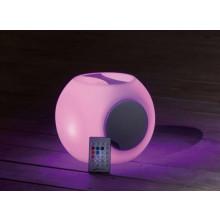 Lampe cube arrondi avec poignée PROLOISIRS avec haut parleur