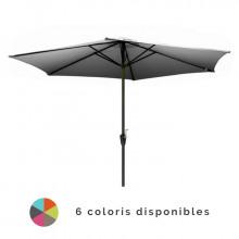 Parasol droit 3m en aluminium ALIZE Manivelle