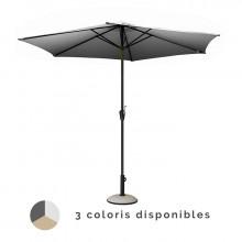 Parasol droit manivelle PROLOISIRS Ø 350 cm
