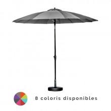 Parasol inclinable Ø 300cm en aluminium PROLOISIRS Pagode