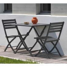 Salon de jardin MARIUS en aluminium pour balcon ou terrasse, 2 personnes