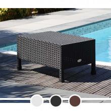 Table basse de jardin DCB résine tressée 40x60