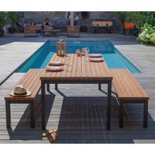 Table de jardin en bois PROLOISIRS Vegas 210