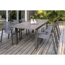 Table de jardin DCB Zahara 180/240 x 100 cm