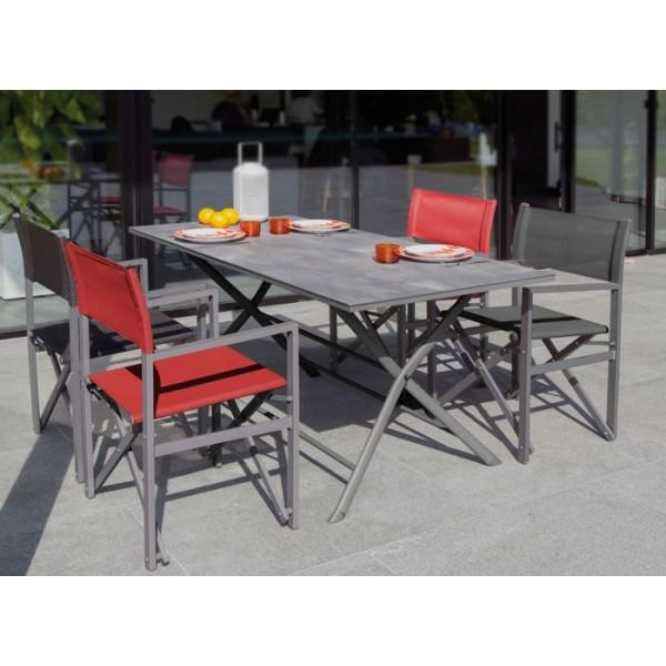 Table Azuro 160 gris / luzerne