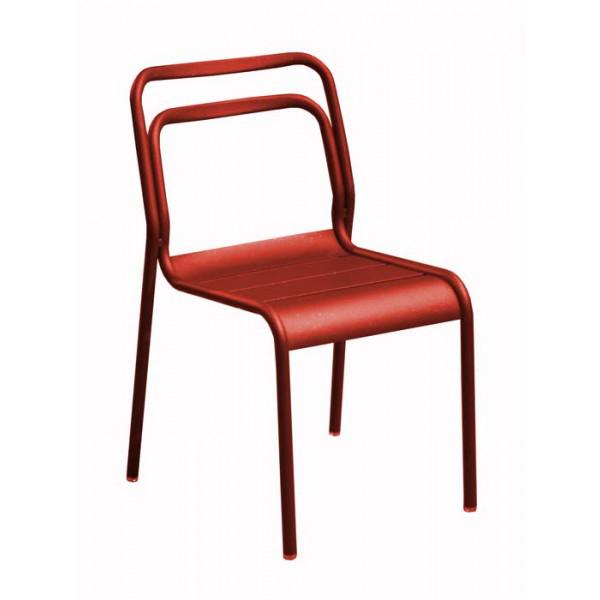 Salon De Jardin Proloisirs Table Eos 180 240 Graphite 6 Chaises Eos Rouges