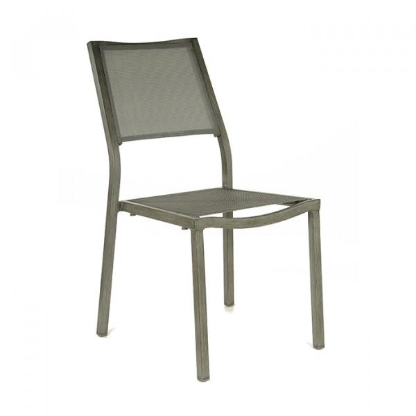 Chaise De Jardin Florence En Aluminium Et Finition Brush Alize