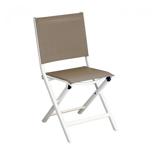 Salon de jardin Alizé Ondine 160 / 213 blanc + 6 chaises Thema blanches