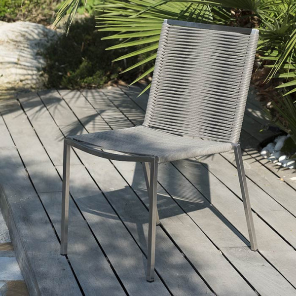 Lot de 6 chaises empilables LIVORNO