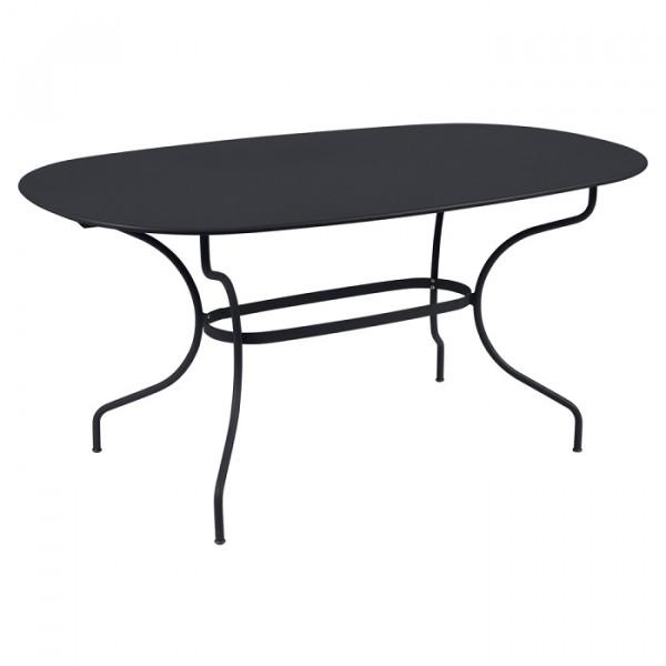 Table de jardin ovale FERMOB Opéra + 160 x 90 cm