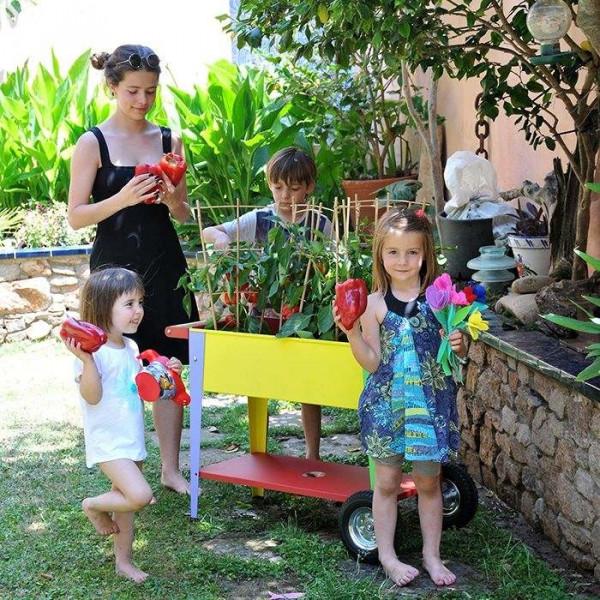 Potager urbain sur roulettes pour enfants 75 x 35 x 65 cm Herstera Garden