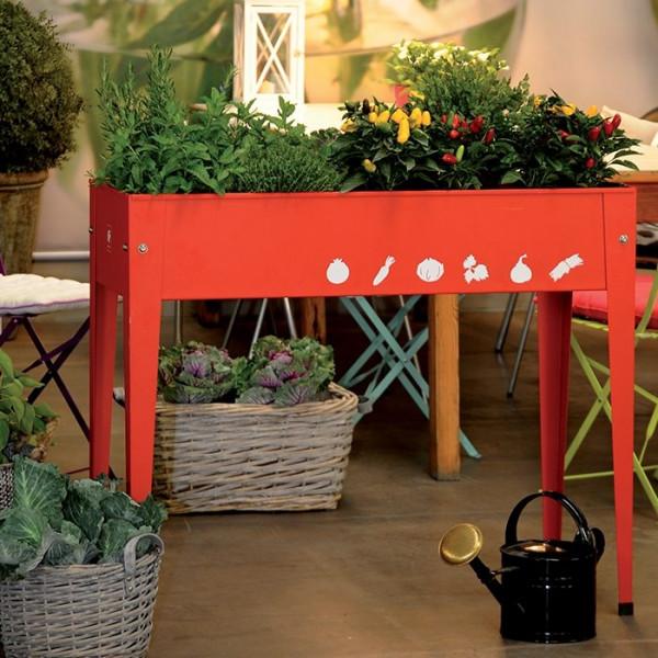 Potager urbain 100 x 40 x 84 cm Herstera Garden - Rouge
