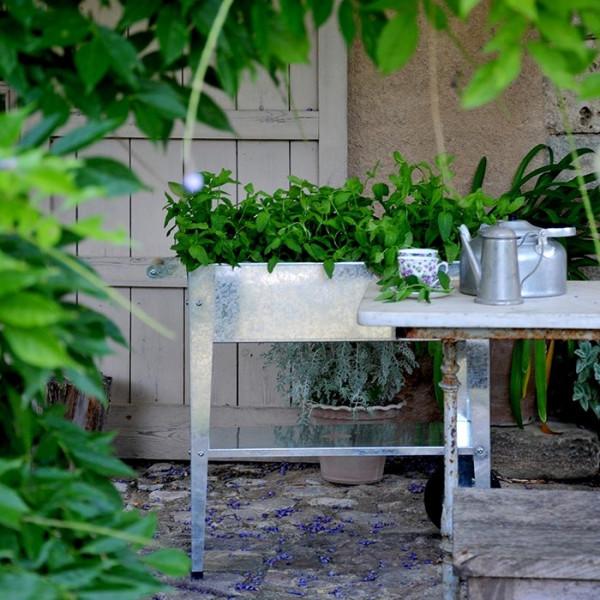 Potager urbain sur roulettes 75 x 35 x 80 cm Herstera Garden - Argent