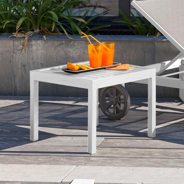 Table basse de jardin carrée Alizé Lou