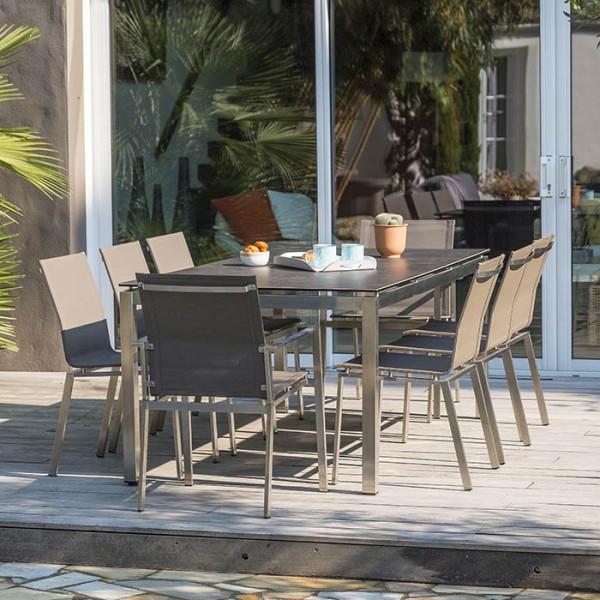 Paris 200 de Garden cm plateau Table jardin céramique Torino CxBQodWre