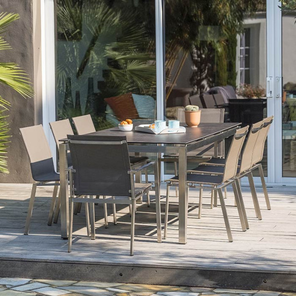 Table de jardin Paris Garden Torino 200 cm plateau céramique
