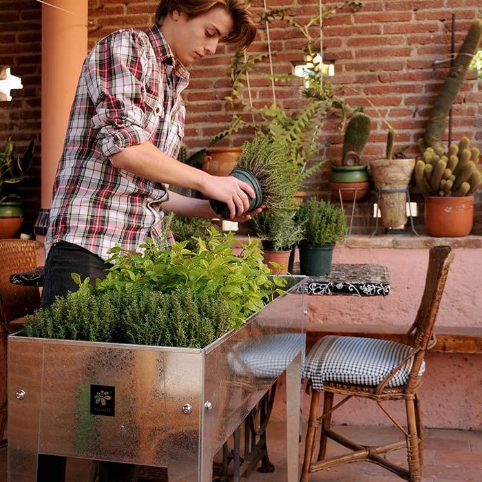 Potager urbain 100 x 40 x 84 cm Herstera Garden - Argent