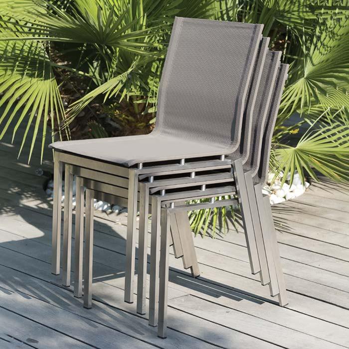 Lot de 6 chaises empilables Paris Garden Torino