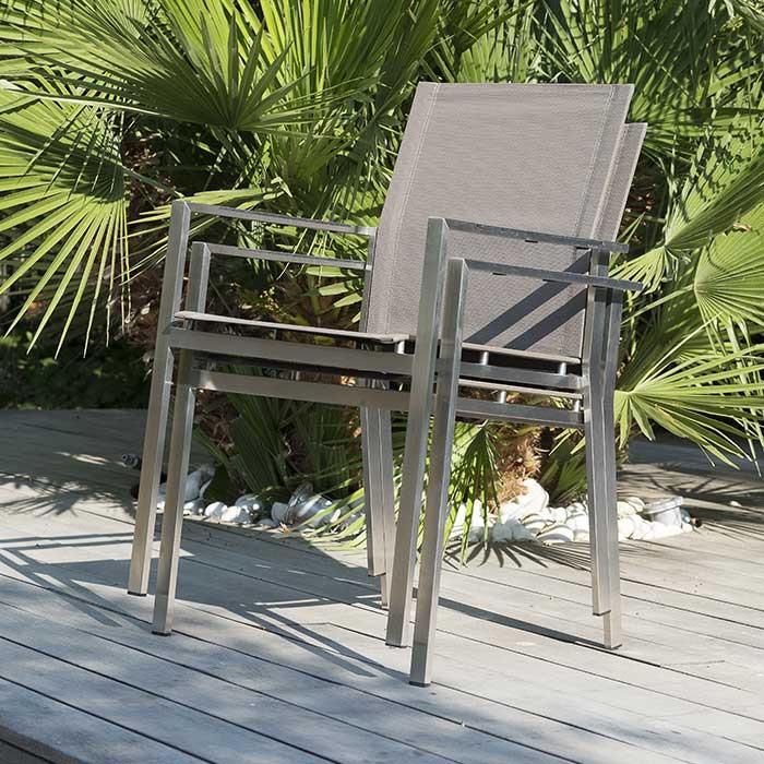 Lot de 6 fauteuils empilables Paris Garden Torino