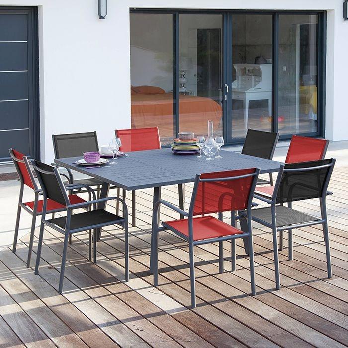 Table de jardin Barcelona 100/145 x 145 cm