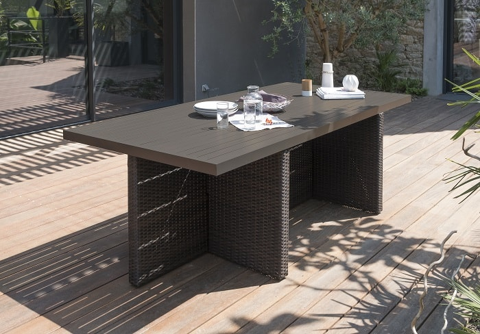 Table de jardin Encastrable DCB Aluminium