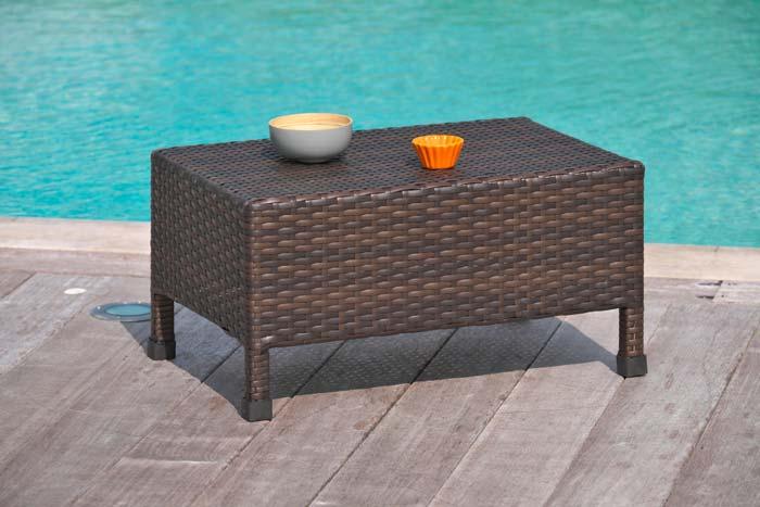 Table basse de jardin DCB resine tressée 40x60