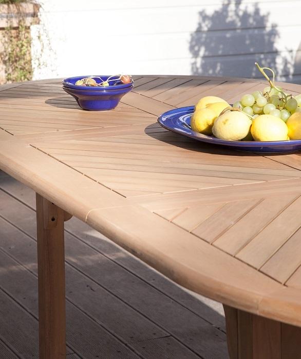table de jardin en bois d'Eucalyptus FSC Durban