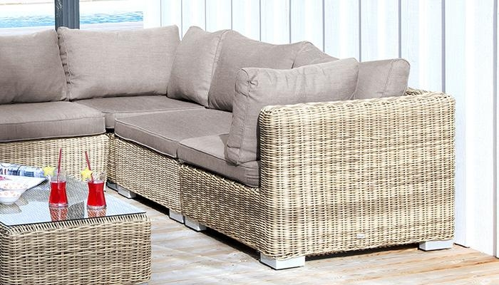 Fauteuil d'angle rattan ambiance