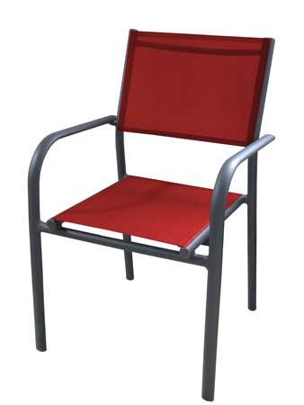 Salon de jardin Tahaa avec fauteuils duca noirs