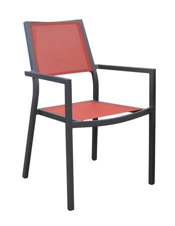 salon de jardin Tahaa 180-240 alizé fauteuils florence rouges