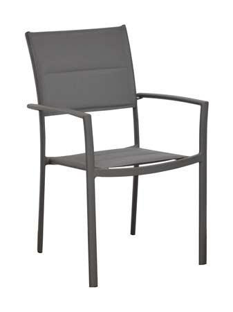 salon de jardin trieste grise 240 fauteuil milan gris