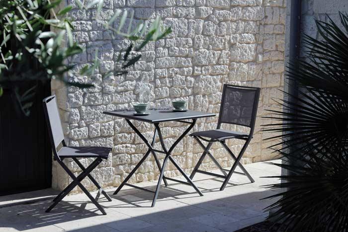 table de jardin globe 70 cm grise