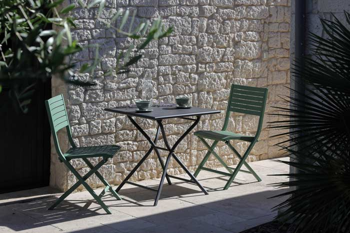 table de jardin globe 70 cm grise