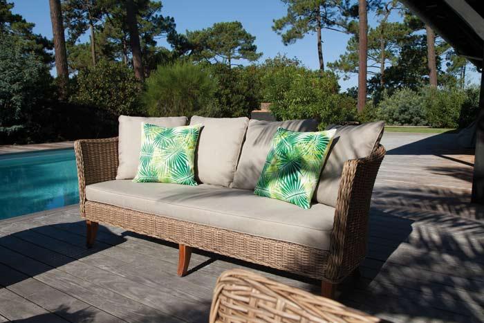coussins de chaise de jardin motif Proloisirs