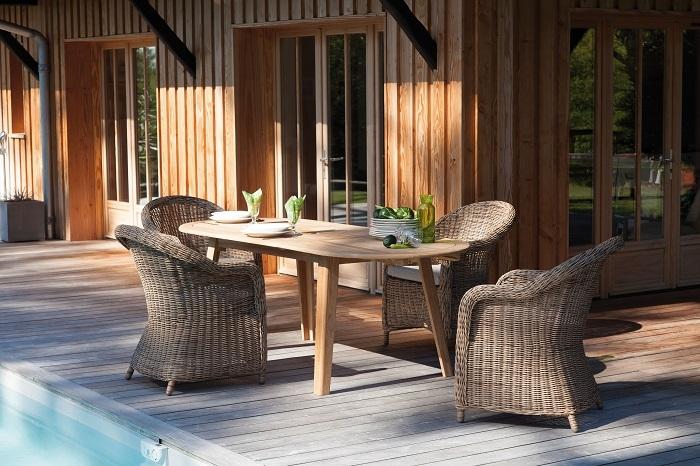 table de jardin en bois de Teck Lola