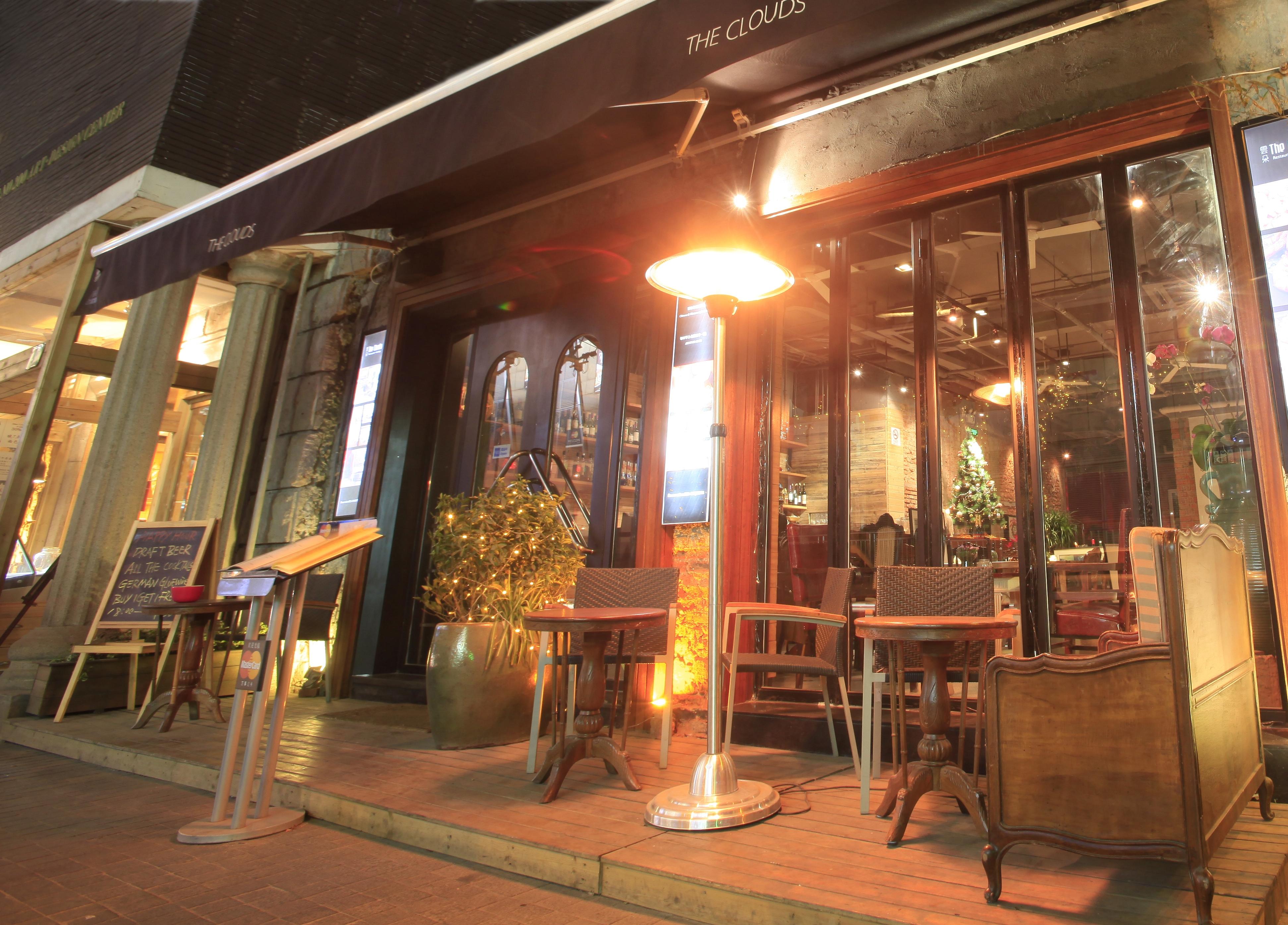 parasol milan retractable ambiance restaurant