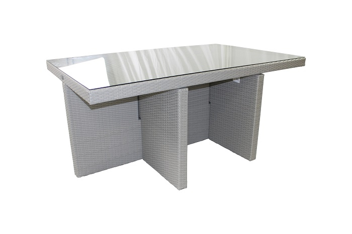 Table de jardin Encastrable DCB Aluminium 10 personnes