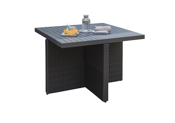 Table de jardin Encastrable DCB Aluminium 4 personnes
