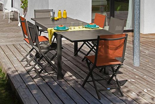 Salon de jardin Alizé Elise chaises Thema