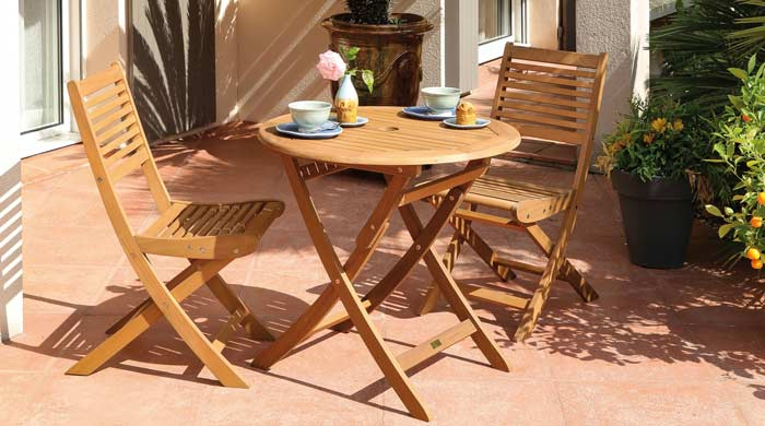 Salon de jardin Sophie 80 2 chaises saturnes alizé