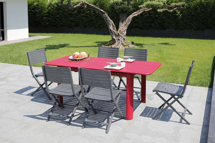 Table à allonge papillon EOS Proloisirs 130-180 cm