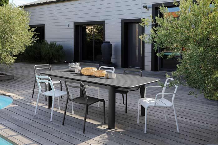 Table à allonge papillon EOS Proloisirs 180-240 cm