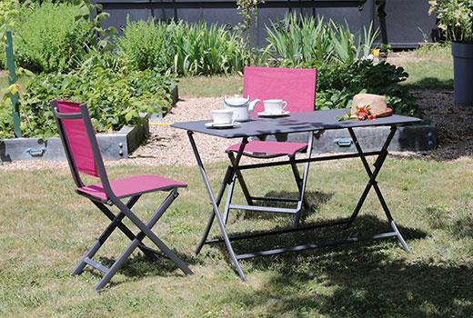 Salon de jardin Alizé Lorita chaises Thema