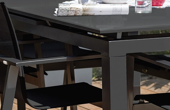 Table Miami DCB 240 verre rallonge