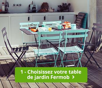 table de jardin fermob montmartre - 2 à 4 personnes