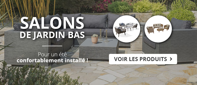 Salon de jardin bas pour la détente en terrasse
