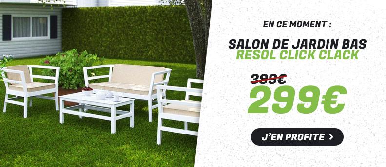 Salon de Jardin Bas Resol