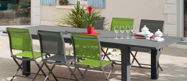 Mobilier de jardin proposé par Raviday